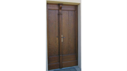 Fabrication portes en bois ari ge for Double porte entree